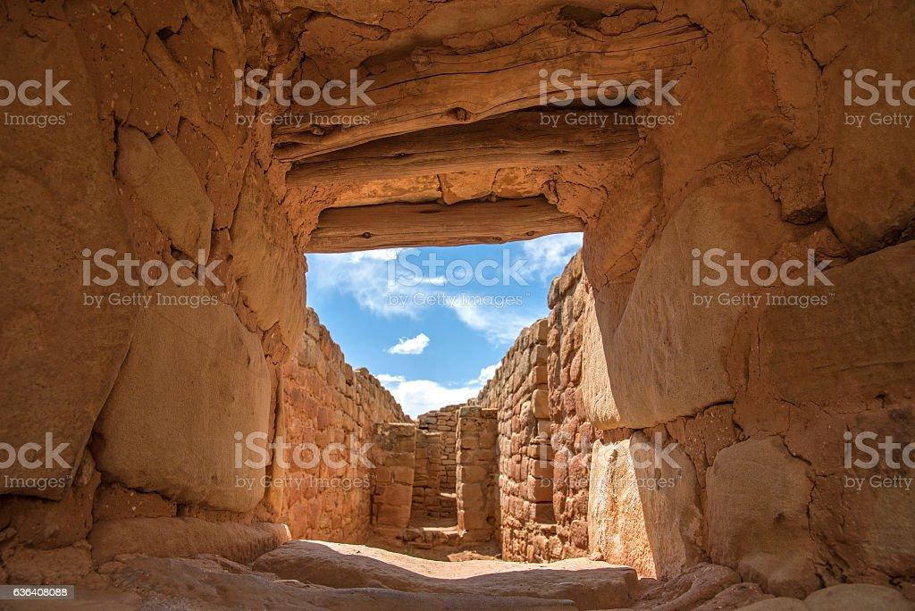 Sun Temple doorway stock photo