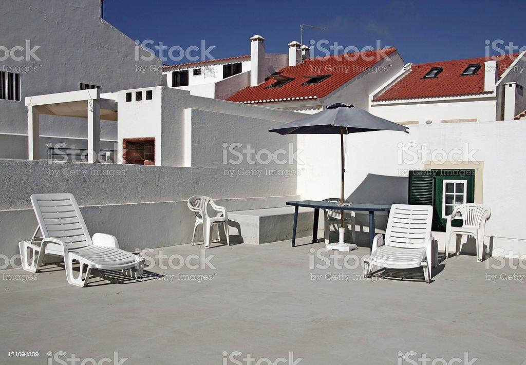 Sun Terrace royalty-free stock photo