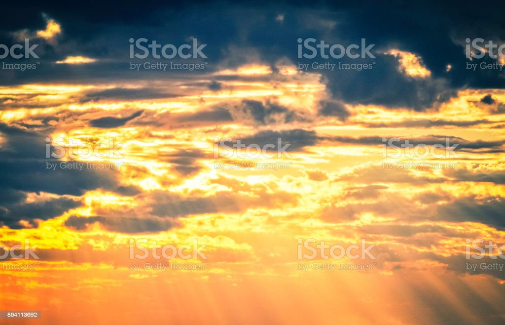 Sun through the clouds royalty-free stock photo