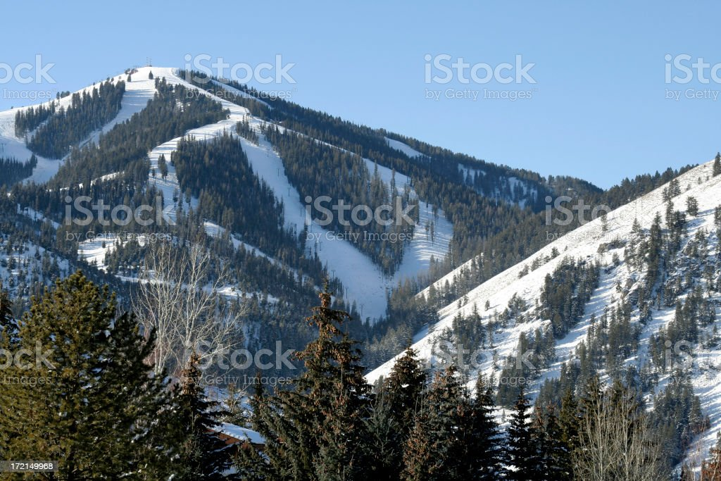 Sun Valley Idaho Ski Mountain stock photo