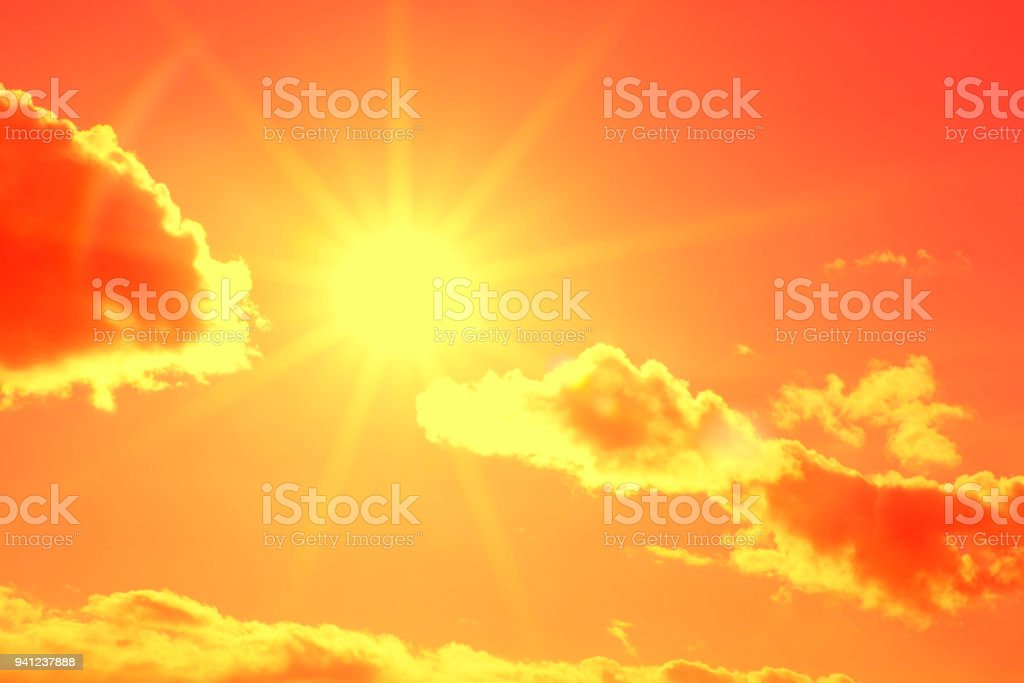 Sun with beautiful beams over the clouds (high resolution - 50 megapixels) royalty-free stock photo