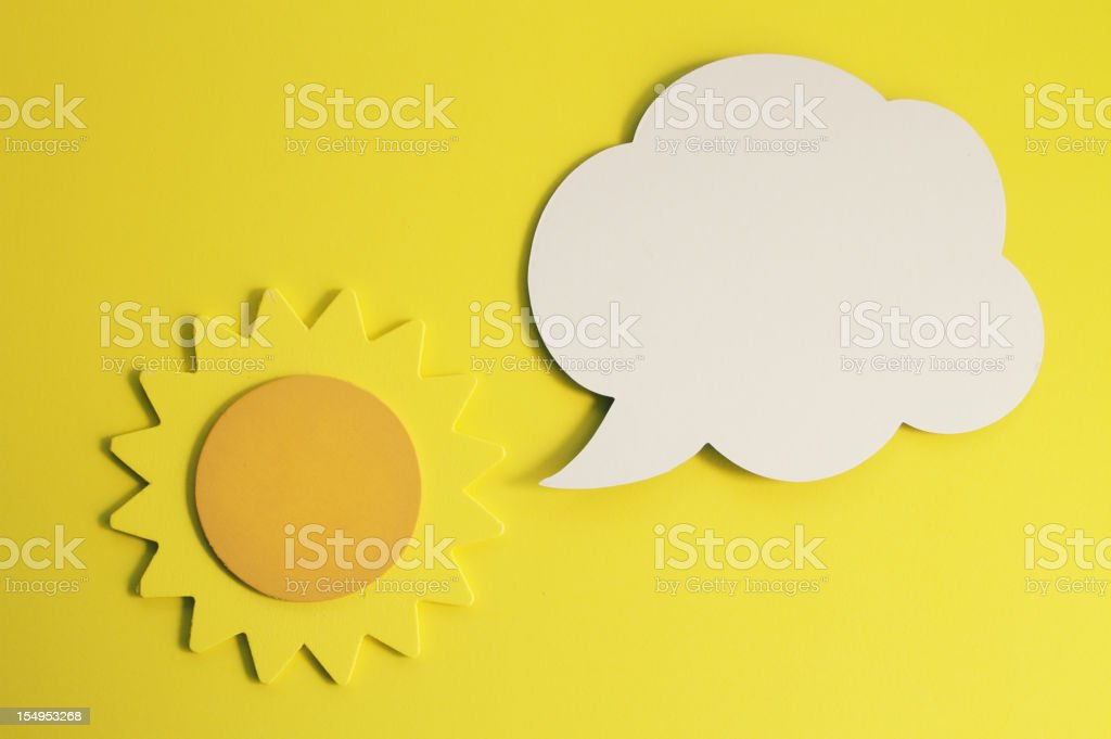 Sun with Cartoon Balloon stock photo