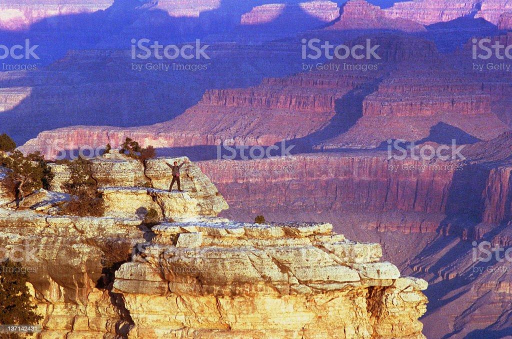 Sun Worship, Grand Canyon royalty-free stock photo