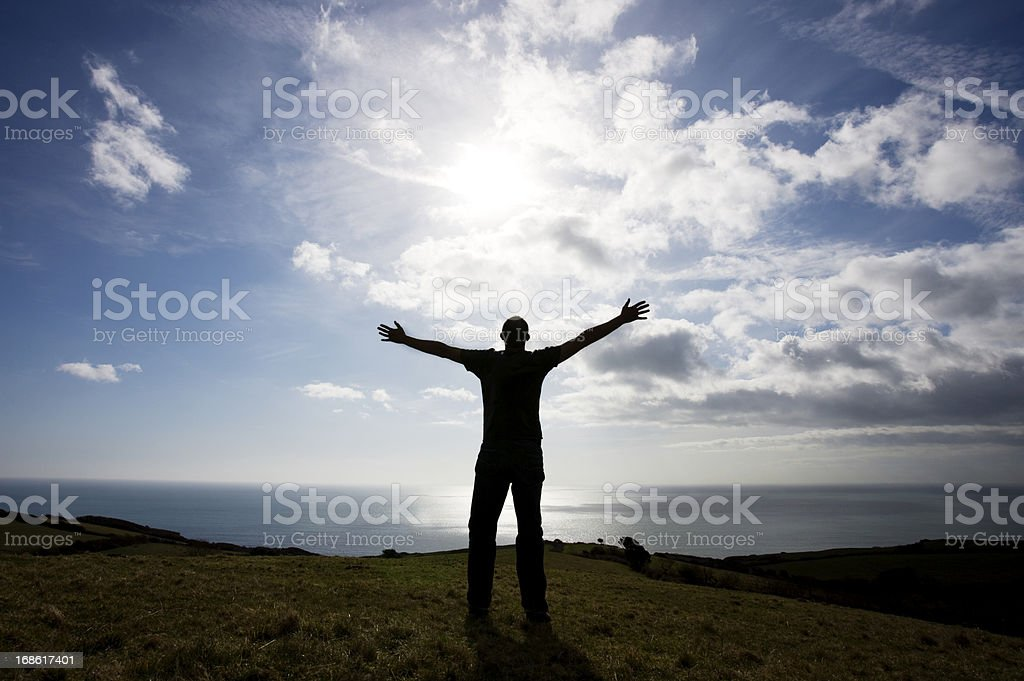 Sun worship royalty-free stock photo