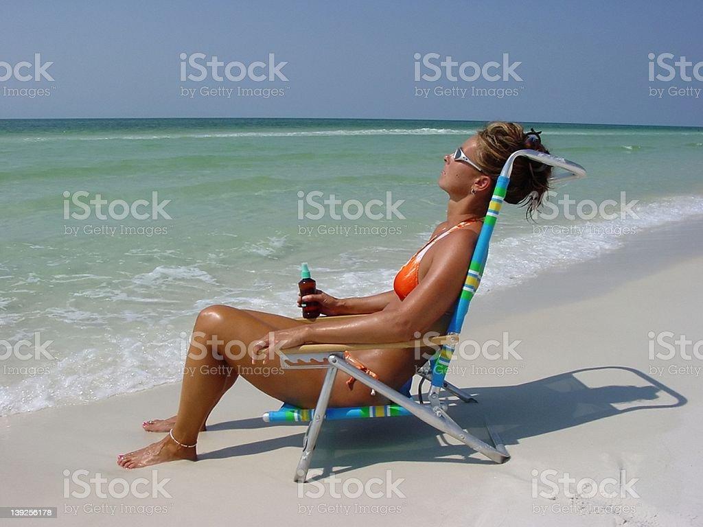 Sun Worshipper stock photo