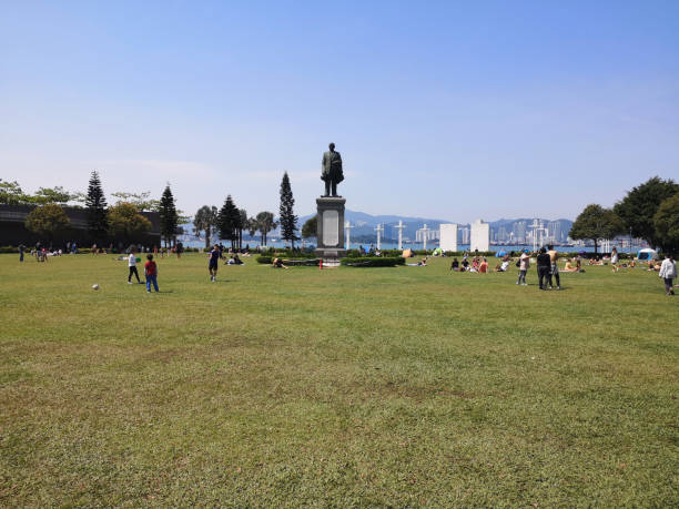Sun Yat Sen Memorial Park, Hong Kong island stock photo