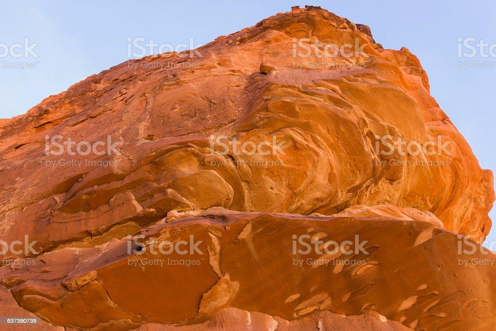 Sunbaked Atlatl Rock stock photo