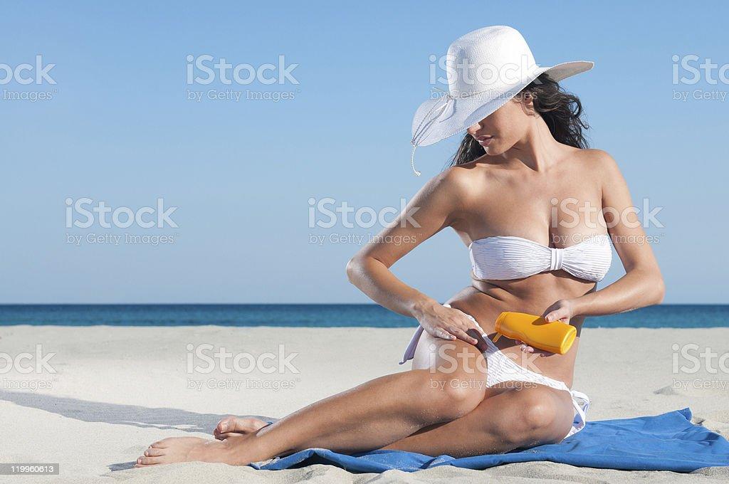 Sunbath protection royalty-free stock photo