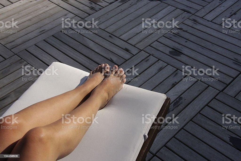 Sunbathe stock photo