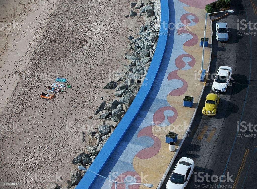 Sunbathers at Olas Altas Beach, Mazatlan stock photo