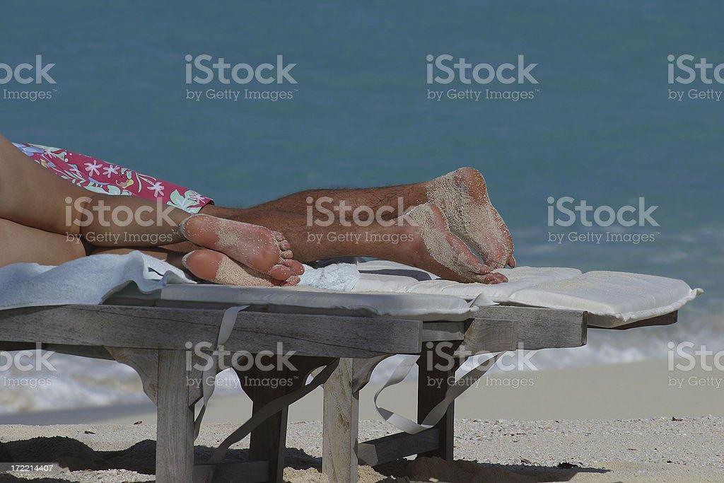 Sunbathers royalty-free stock photo