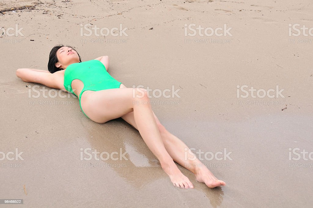 Sunbathing beauty royalty-free stock photo