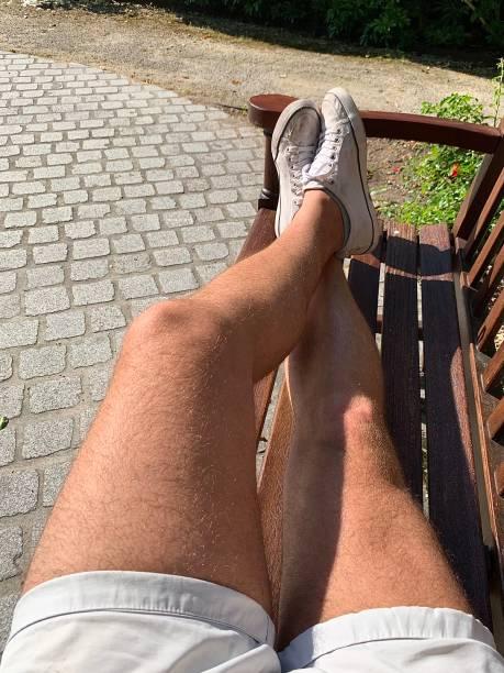 Sunbathing in the park. stock photo
