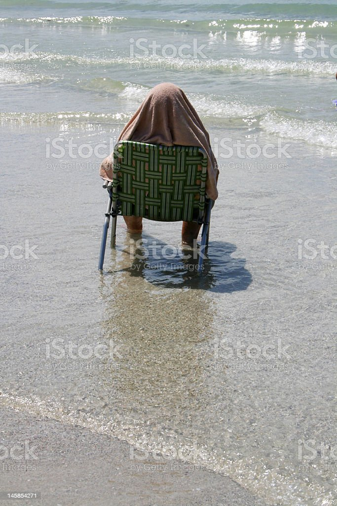 Sunbathing royalty-free stock photo
