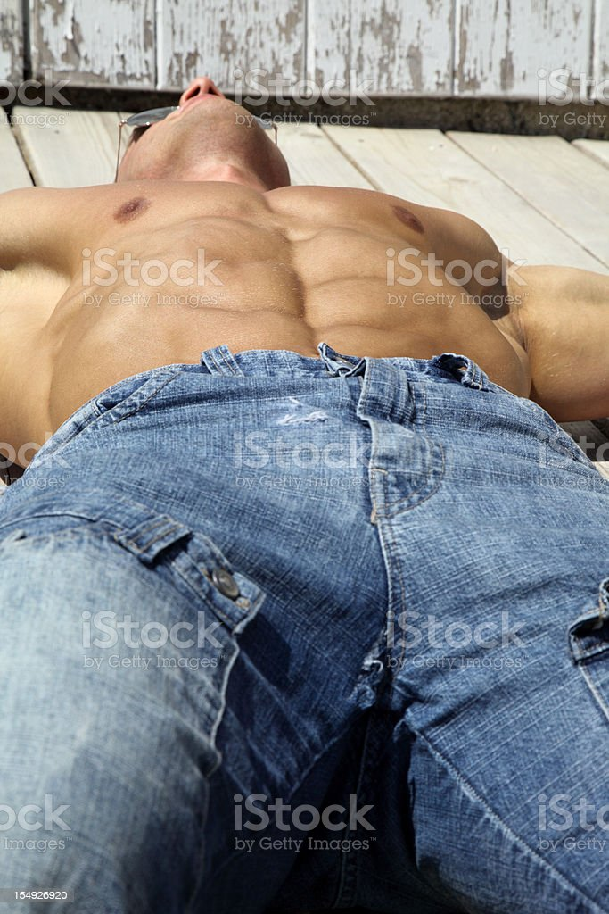 Sunbathing royalty-free stock photo