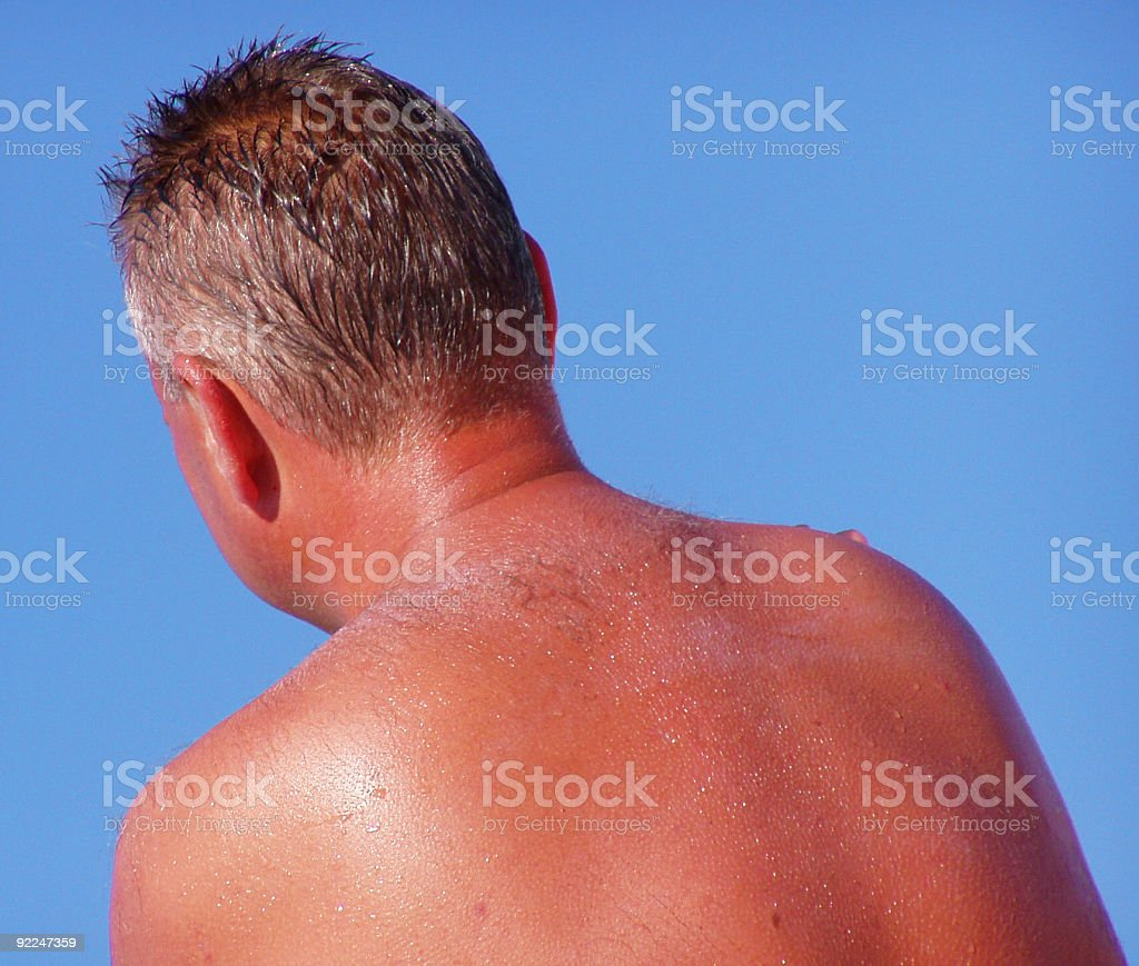 Sunbathing (roasted) stock photo