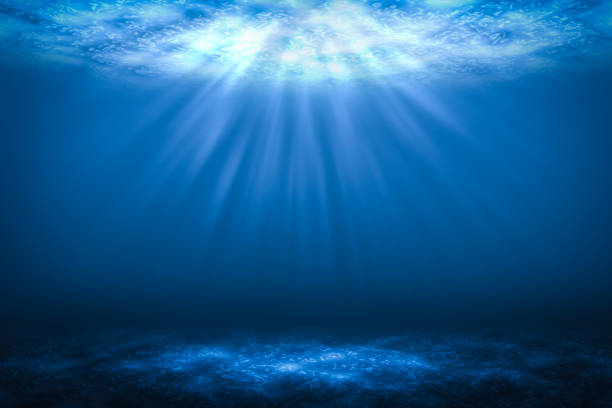 Sunbeam Abstract underwater backgrounds in the sea. Sunbeam Abstract underwater backgrounds in the sea. undersea stock pictures, royalty-free photos & images