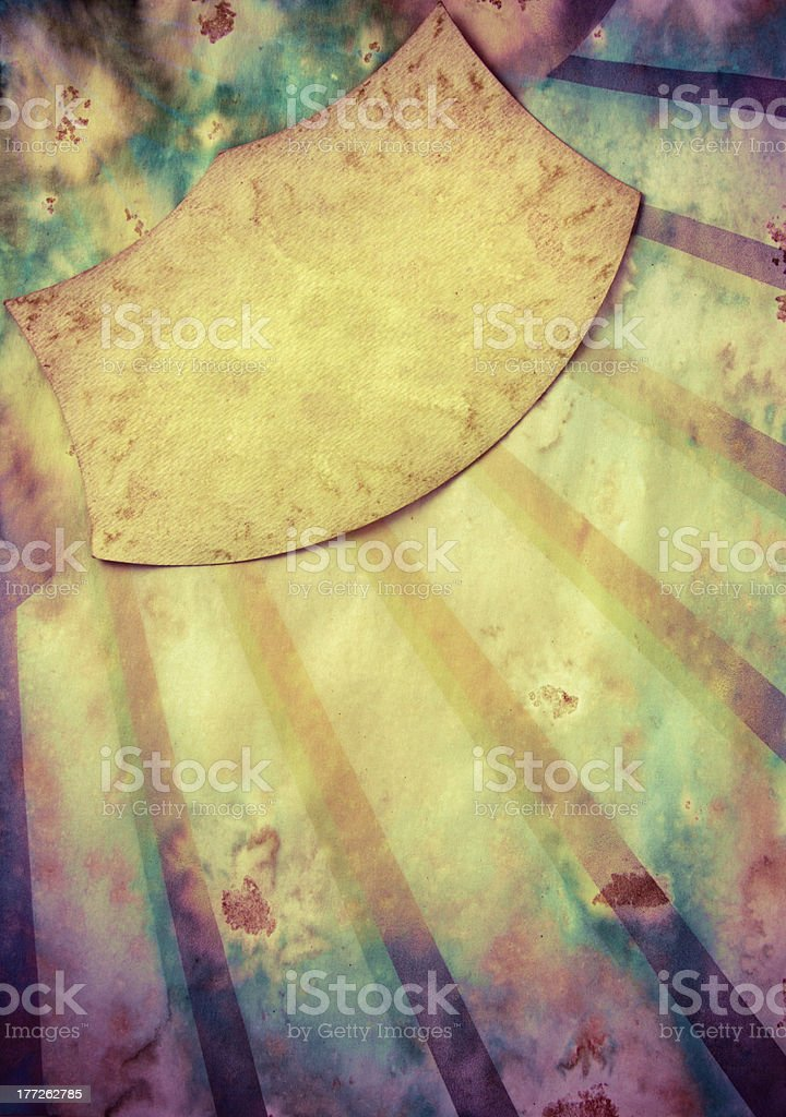 Sunbeam grunge toned old paper background stock photo