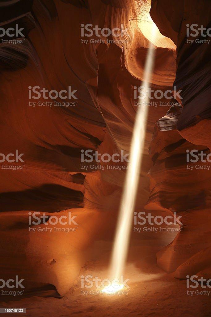 Sunbeam in Antelope Canyon stock photo