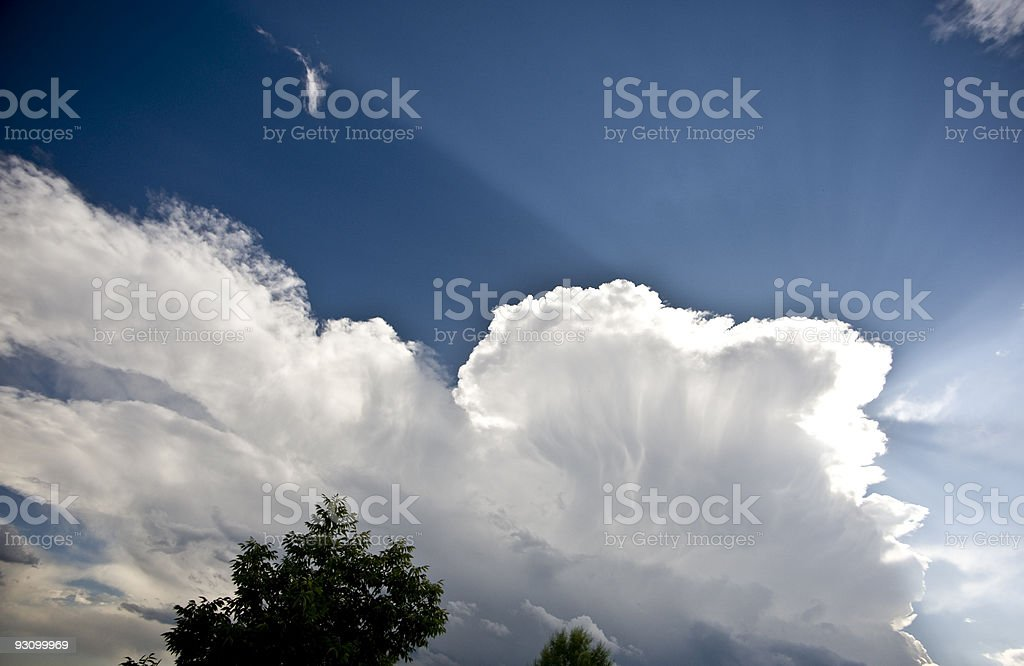 Sunbeam in the Clouds royalty-free stock photo
