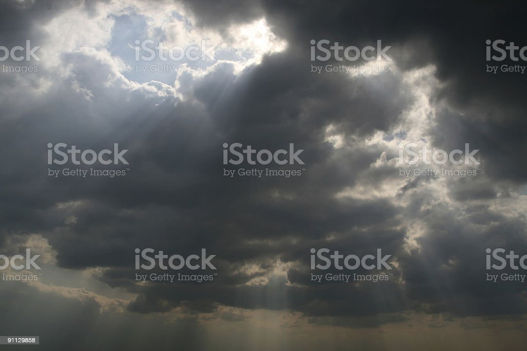Sunbeam royalty-free stock photo