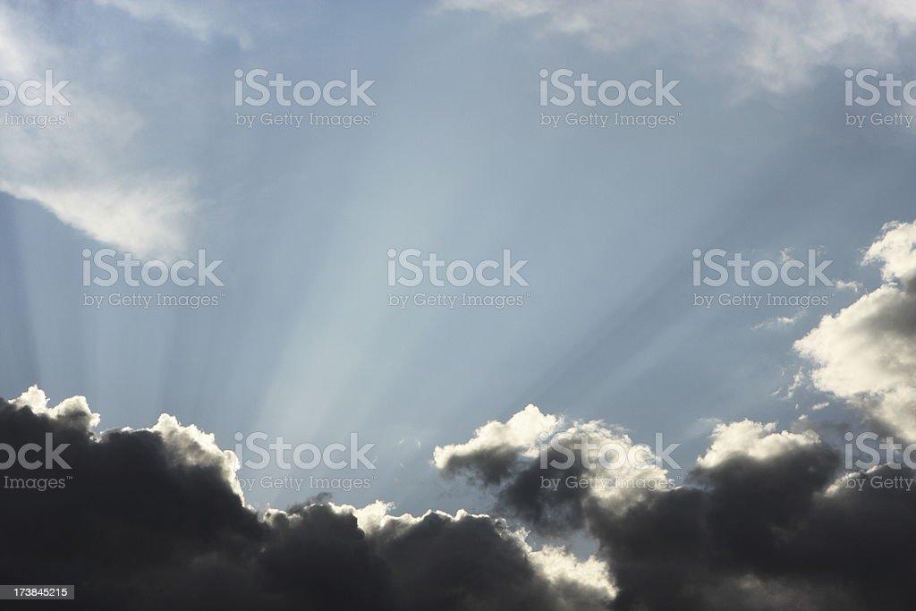 Sunbeam Sky Twilight Storm Cloud royalty-free stock photo