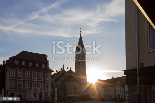 Sunbeams Near Church At Marketplace Stock Photo & More Pictures of Architecture