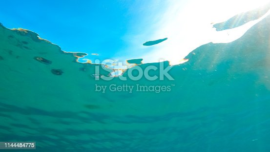 665352250istockphoto Sunbeams through the water surface 1144484775