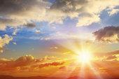 istock Sunbean of Sunset Sky 497709519