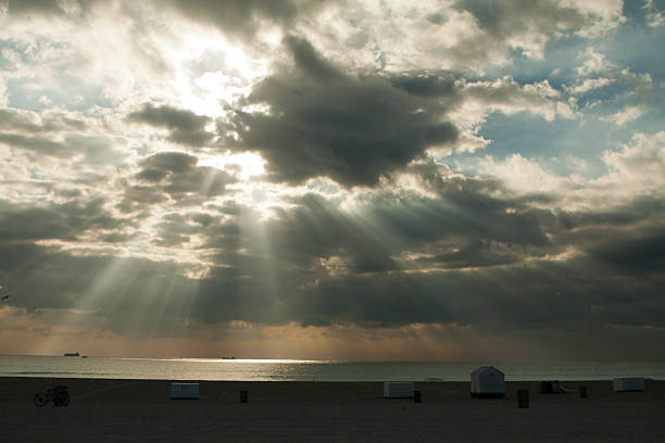 Sunbreak at South Beach stock photo