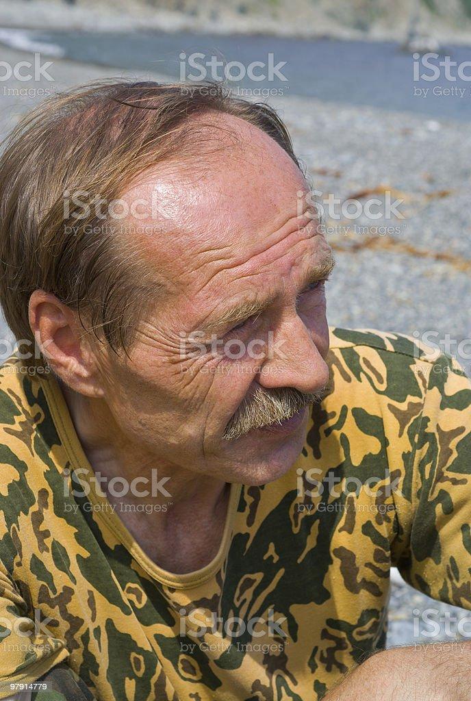 Sunburned Man royalty-free stock photo