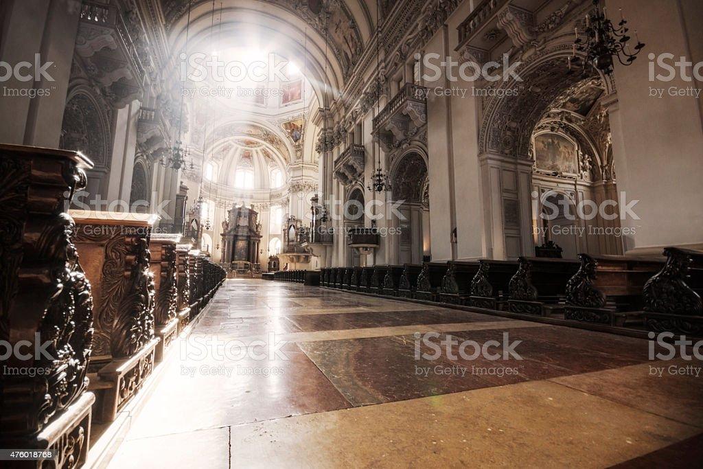 Sunburst im Salzburger Dom – Foto