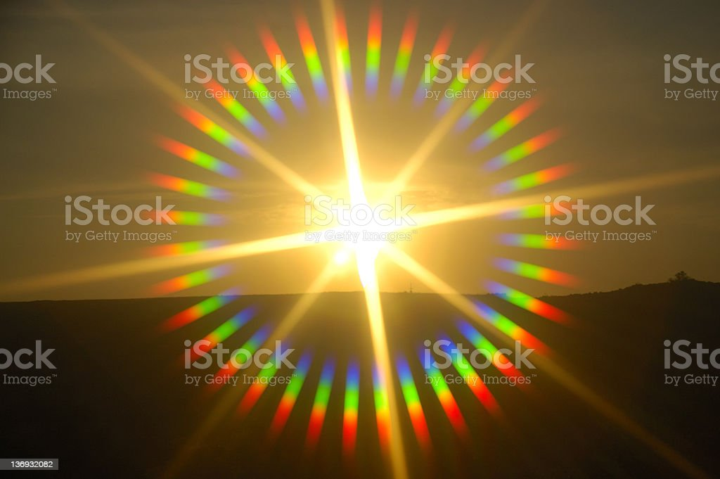 Sunburst stock photo