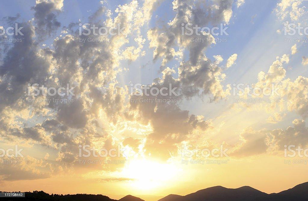 Sunburst. royalty-free stock photo