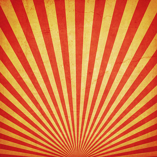 sunburst retro background and duplicate grunge texture - circus stok fotoğraflar ve resimler