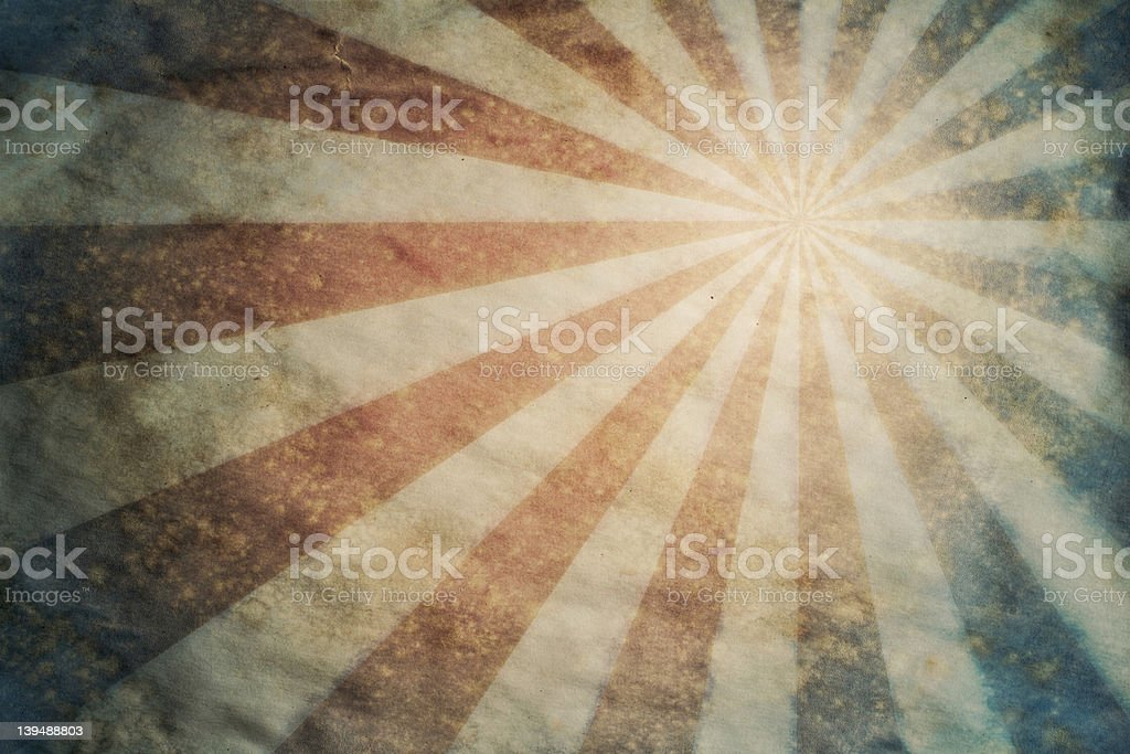 Sunburst retro grunge paper background stock photo