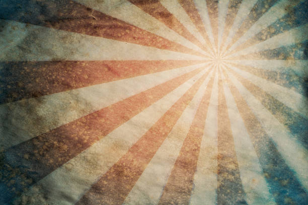 sunburst retro grunge paper background - circus background stock photos and pictures