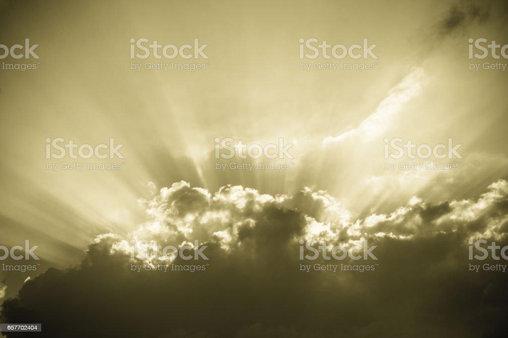 sunburst-vintage Himmel Hintergrund-Abstrakte retro Wolken – Foto