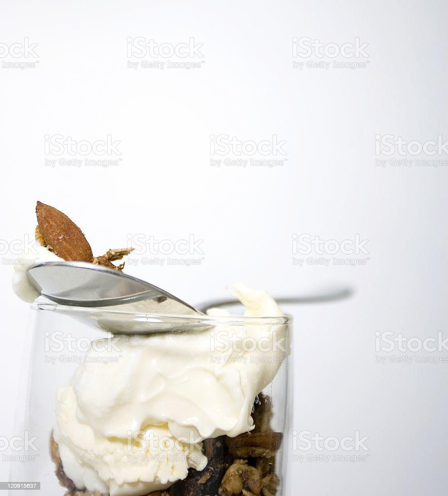 Sundae of muesli and yogurt royalty-free stock photo