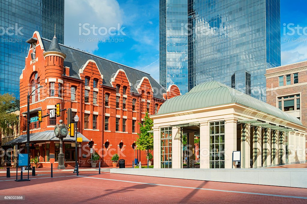 Sundance Square in Downtown Fort Worth Texas USA stock photo