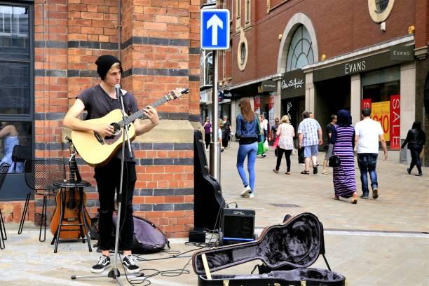 Sunday Busker. stock photo