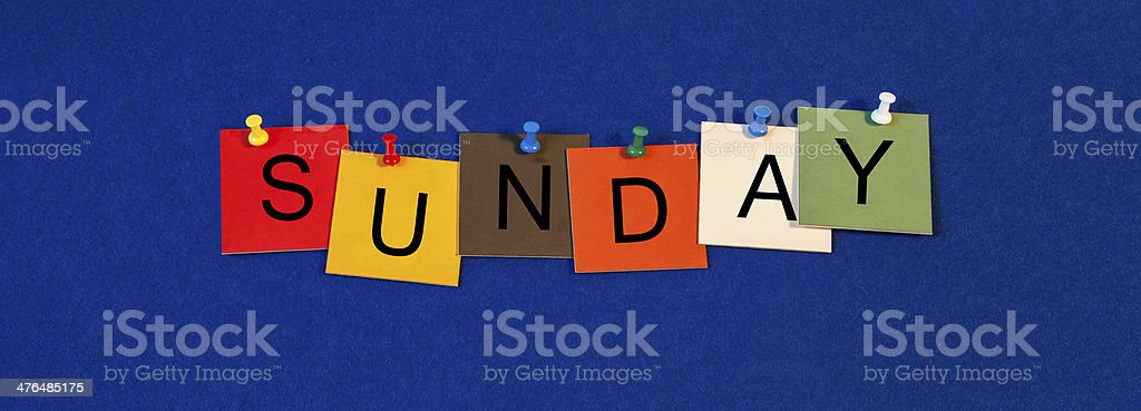 Sunday - day of the week series royalty-free stock photo