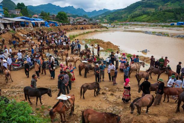 Sonntagsmarkt in Bac Ha, Vietnam – Foto