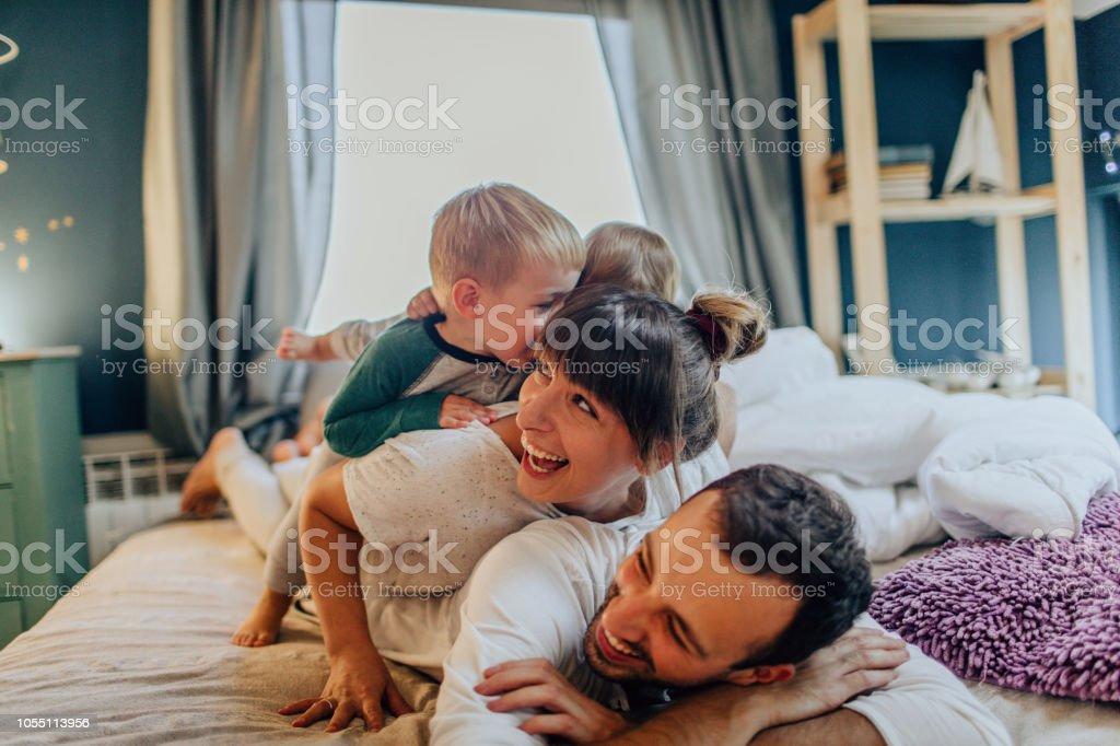 Am Sonntag Morgen mit meiner Familie – Foto
