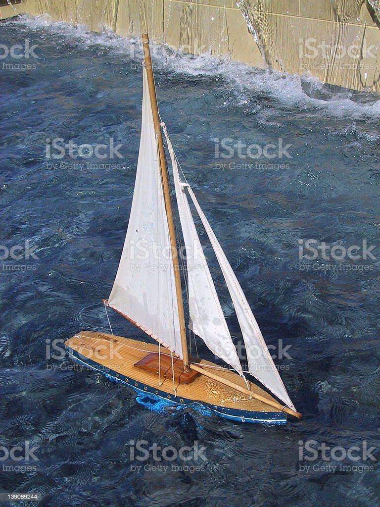 A Sunday Sail royalty-free stock photo