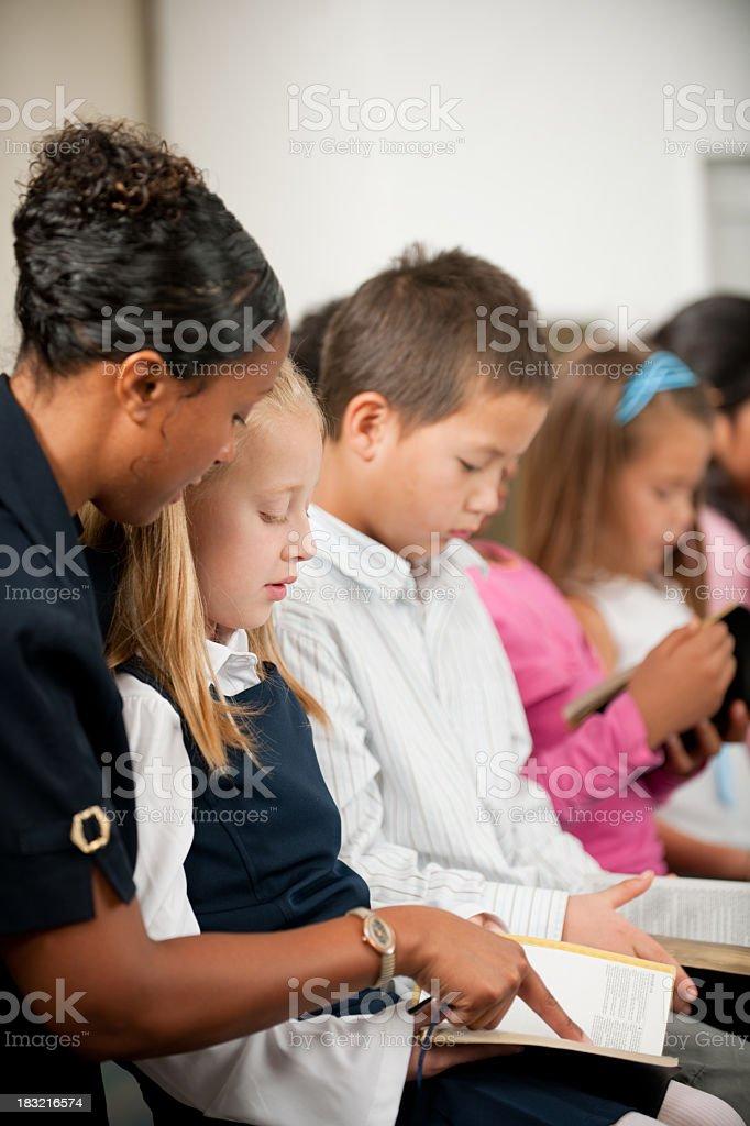 Sunday school kids royalty-free stock photo