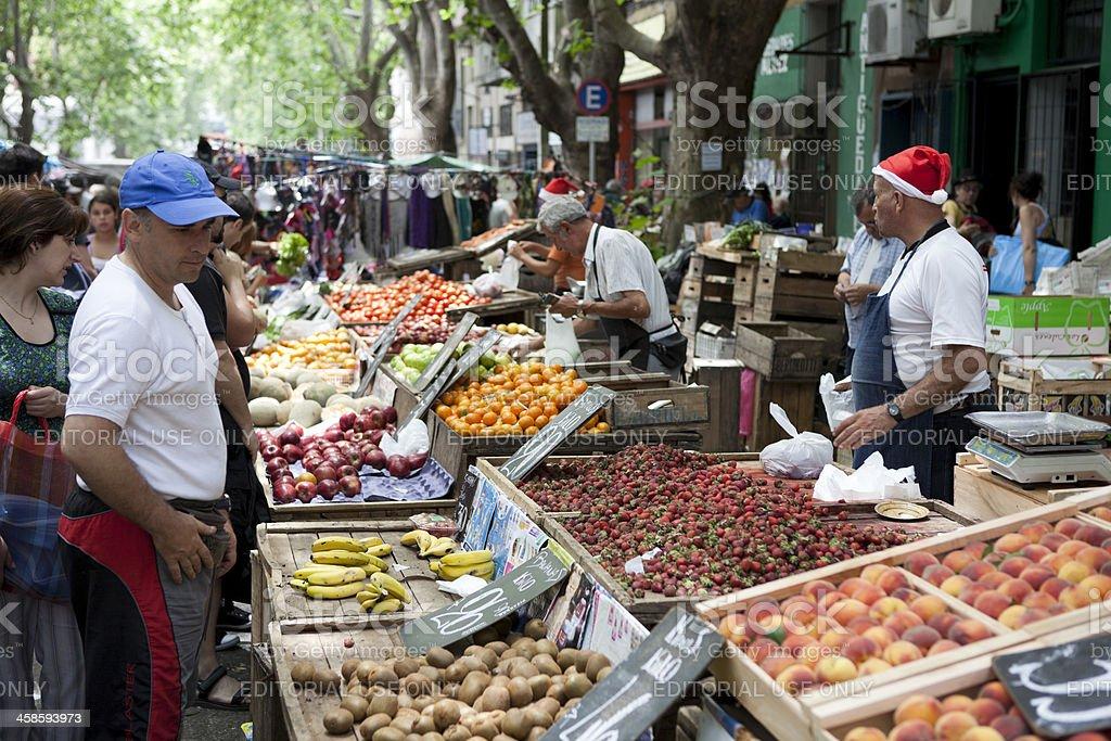 Sunday Street Market, Montevideo, Uruguay stock photo