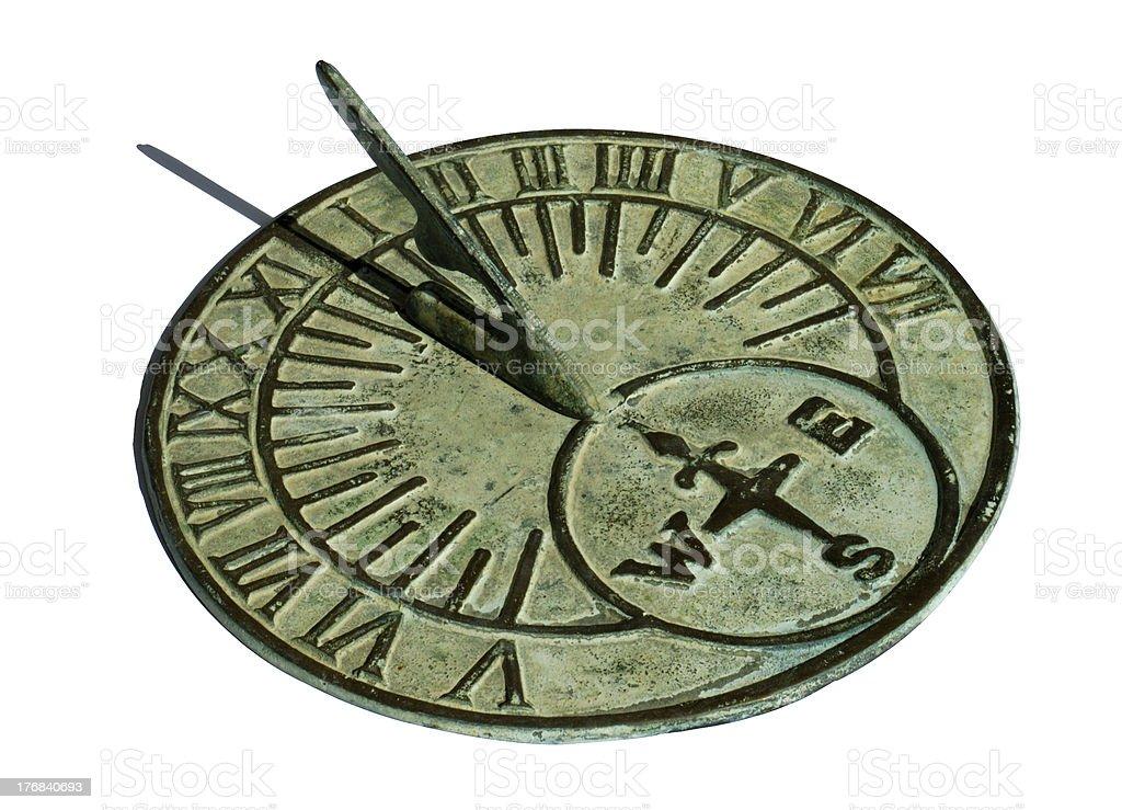Sundial at noon royalty-free stock photo
