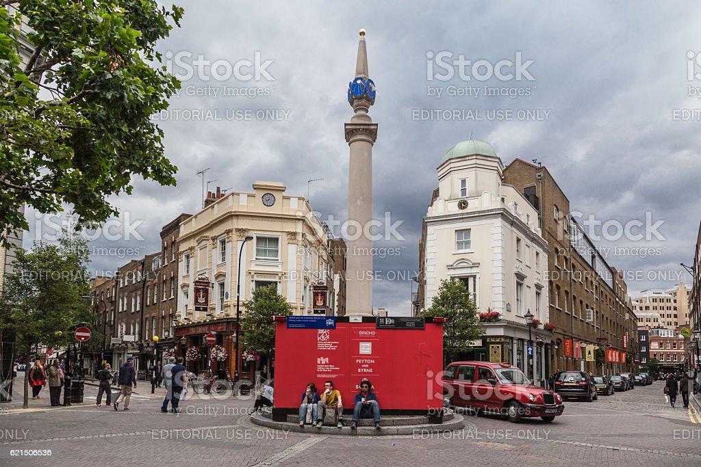 Sundial at Seven Dials Plaza London England photo libre de droits
