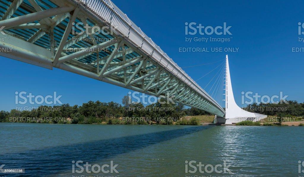 Sundial Bridge at Turtle Bay in Redding, California stock photo